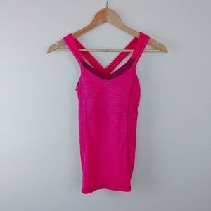 LULULEMON   Hot Pink RUN FOR GOLD top Size 4